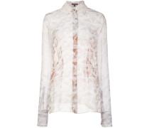 Semi-transparente Bluse mit Marmormuster