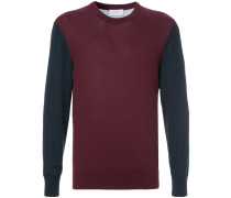 Sweatshirt mit kontrastierenden Ärmeln