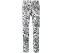 Jeans mit Leoparden-Print