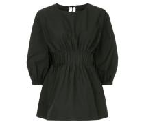 pintuck smock blouse
