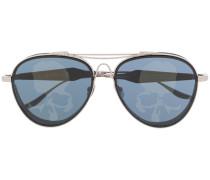 Sonnenbrille mit Totenkopf-Print