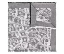 Schal mit Dollar-Print