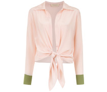 silk lace up shirt - Unavailable
