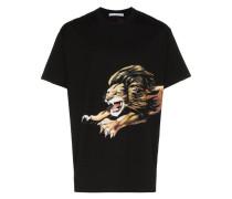 T-Shirt mit Löwe-Print