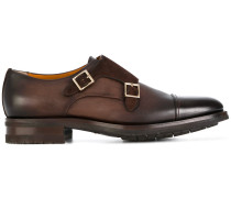 gold buckle monk shoes