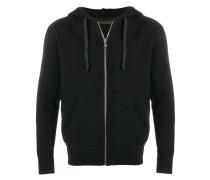 hooded zipped jacket