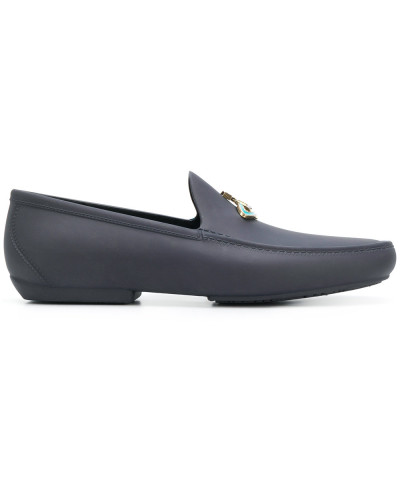 front logo loafers