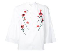 Bluse mit Blumenstickerei