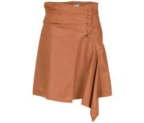 leather asymmetric skirt