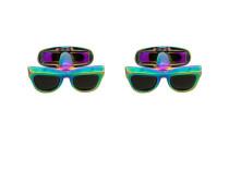 rainbow sunglasses cufflinks