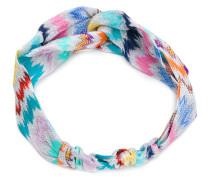 zig-zag lamé headband