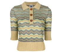 lamé zig-zag polo shirt