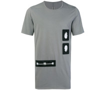 Lockeres T-Shirt mit Patches