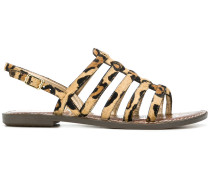 strappy leopard print sandals