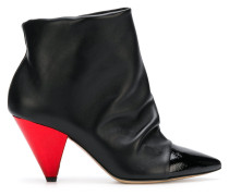 pointed geometric boots