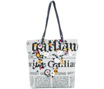 newspaper print shoulder bag
