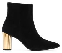 metallic heel boots