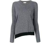 Kaschmir-Pullover mit kontrastierendem Saum