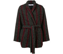 contrast belted coat