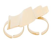Strukturierter Zwei-Finger-Ring