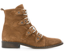 multi-buckle ankle boots