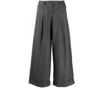 Cropped-Hose mit weitem Bein