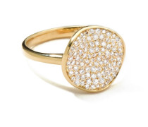 Disc Ring in 18K  with Diamonds