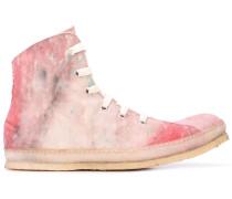 distressed high top sneakers