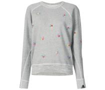 embroidered college sweatshirt