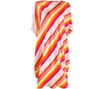 stripe-print loose-fit dress