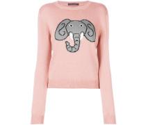 Pullover mit Elefanten-Print