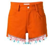 beaded trim shorts