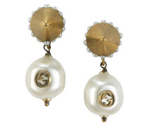 Interlocking G pearl pendant earrings