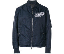 car embroidered bomber jacket