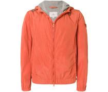 zipped hooded jacket