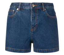 A.P.C. Schmale Jeans-Shorts