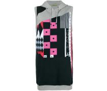 Sweatshirt in Patchwork-Optik
