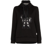 Maglia neck insert hooded jumper