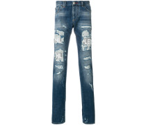 Jeans mit Distressed-Effekt