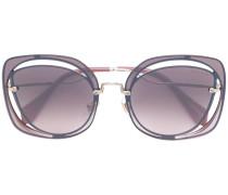 Sonnenbrille aus Metall und Acetat