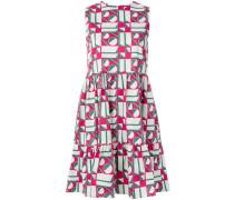Kleid mit Dreiecks-Print