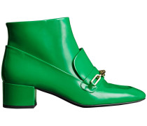 Link Detail Patent Leather Ankle Boots