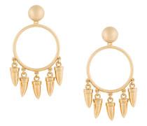 dangling fang hoop earrings