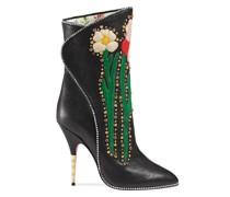 flower intarsia boots