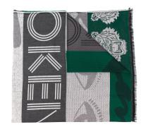 Intarsien-Schal mit Tiger-Motiv