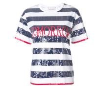 Gestreiftes Pailletten-T-Shirt