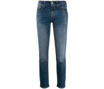 low rise straight-leg jeans