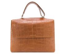 Große Handtasche mit Kroko-Effekt