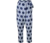 polka dot print trousers
