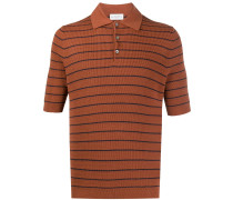 Gestreiftes Strick-Poloshirt